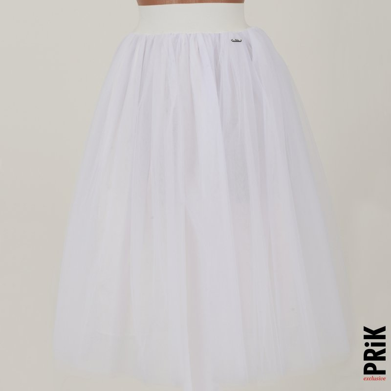PRiK bela suknja od lux tila