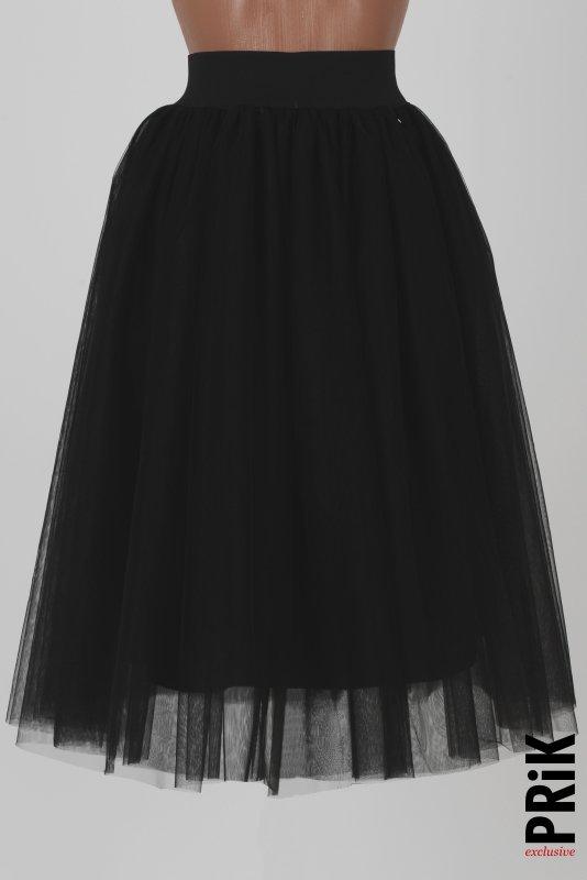 PRiK crna suknja od lux tila