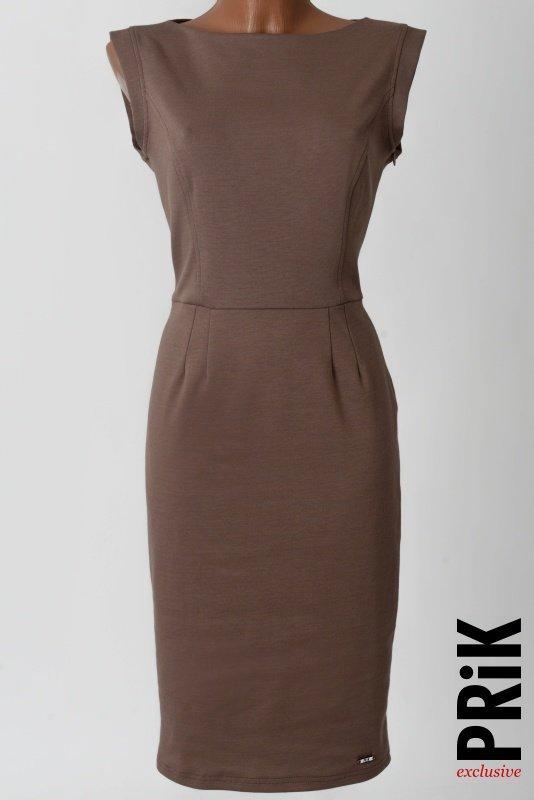 PRiK poslovna haljina boja zemlje