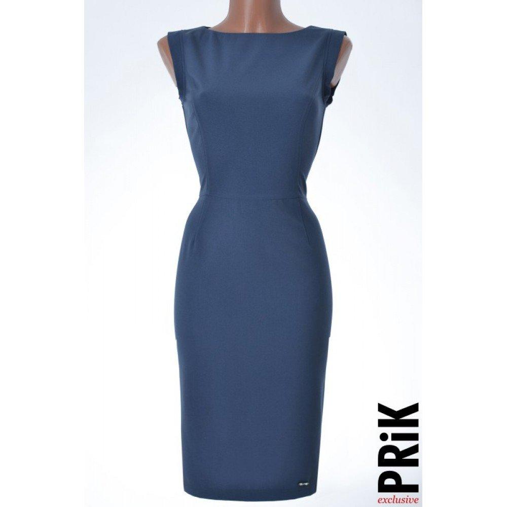 PRiK poslovna haljina plava (pamuk)