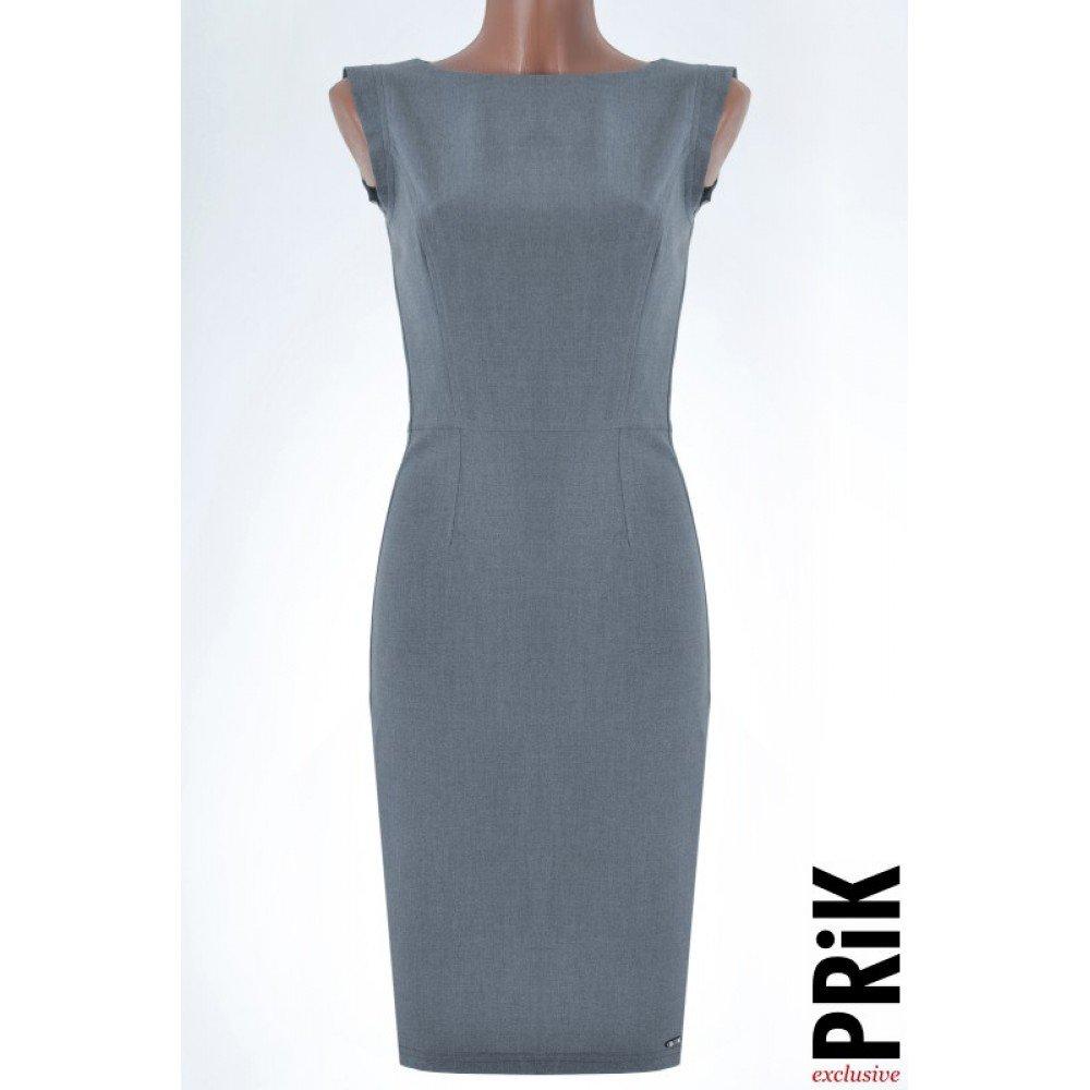 PRiK poslovna haljina siva (pamuk)