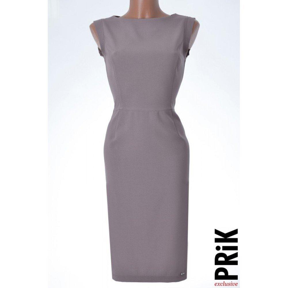 PRiK poslovna haljina bež (pamuk)