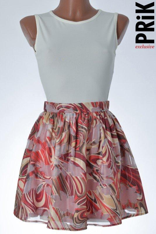 PRiK suknjica crveno-bež
