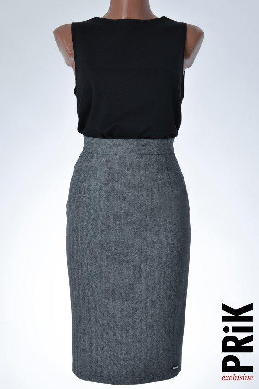 PRiK poslovna suknja siva