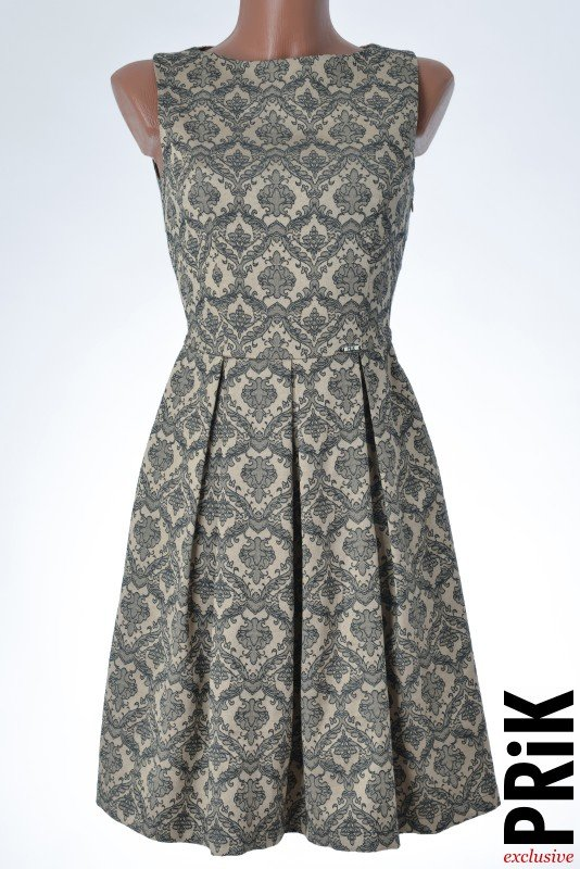 PRiK elegantna haljina sa faltama bež