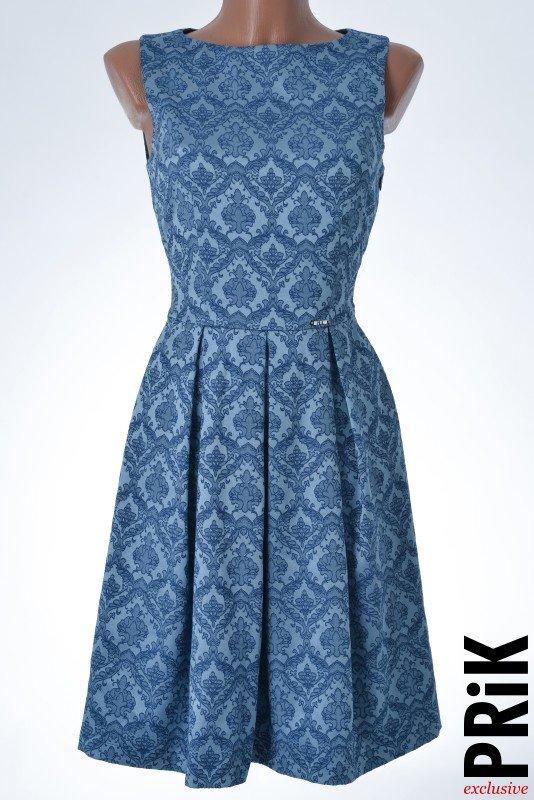 PRiK elegantna haljina sa faltama plava