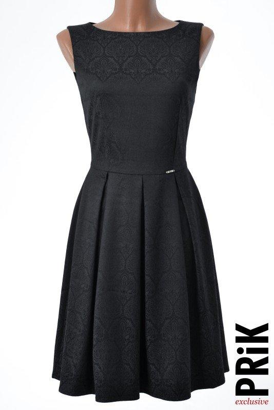 PRiK elegantna haljina sa faltama crna