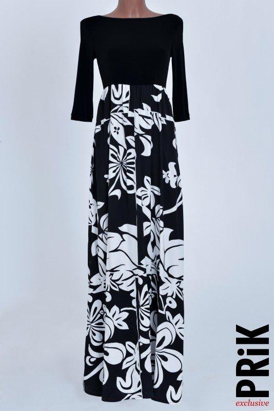 PRiK duga crno-bela haljina