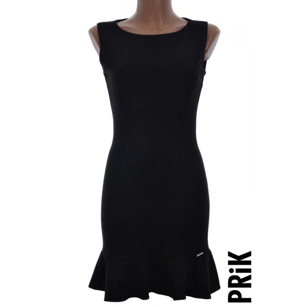 PRiK crna haljina sa karnerom