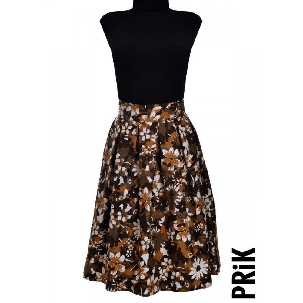PRiK cvetna suknja sa faltama