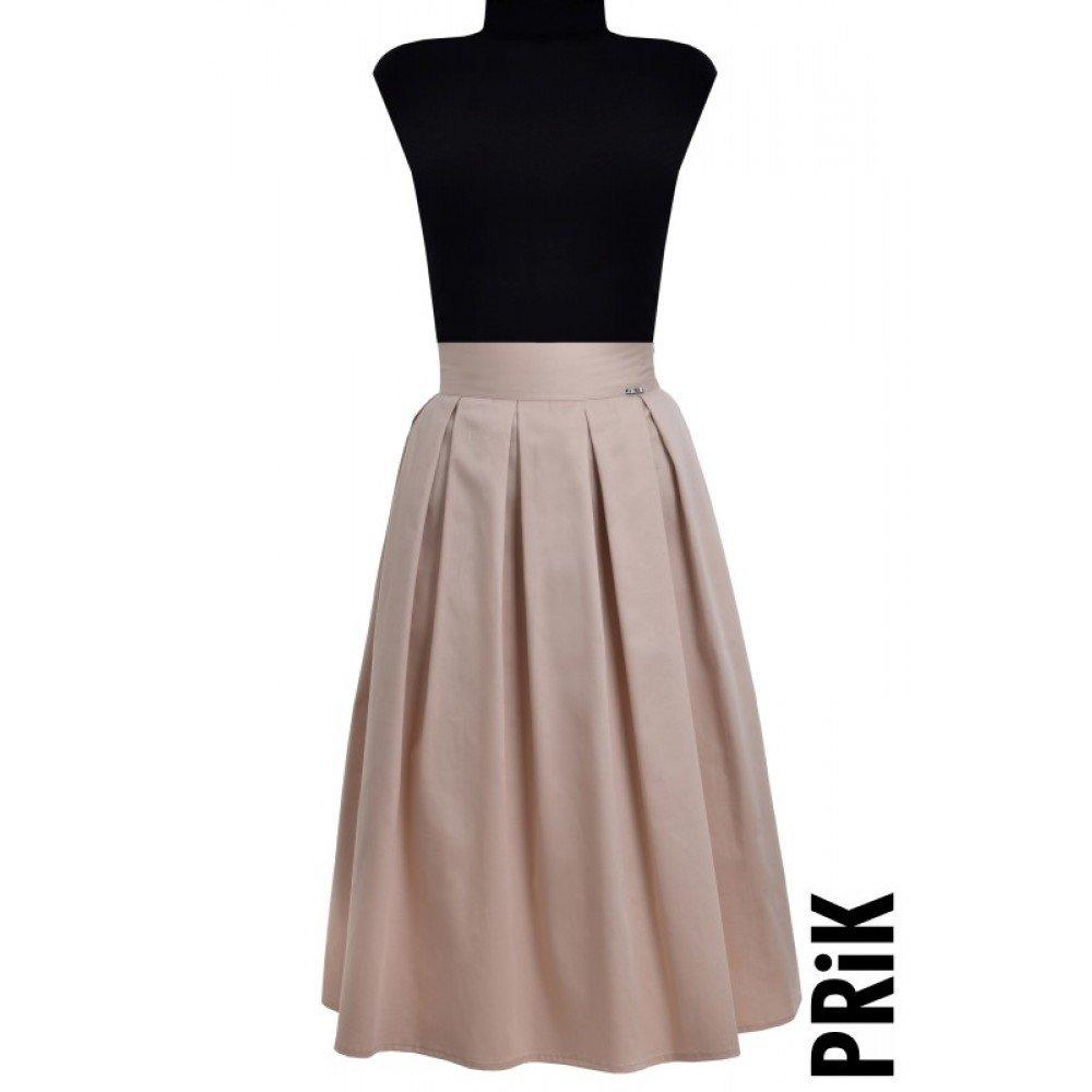 PRiK prljavo roze suknja sa faltama i džepovima