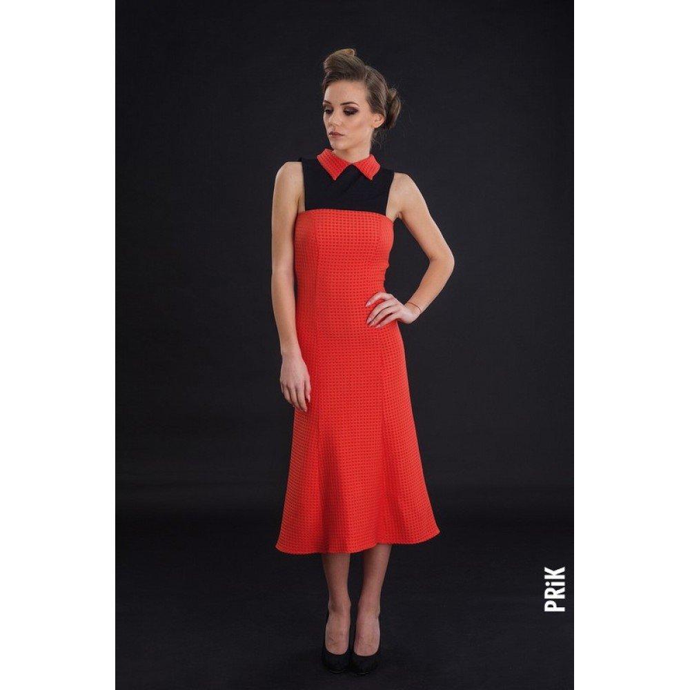 PRiK narandžasta haljina sa kragnom