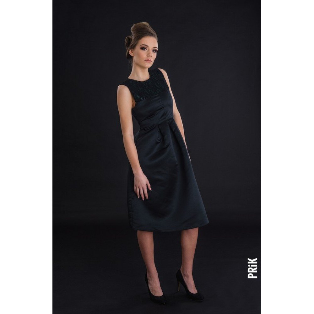 PRiK elegantna haljina crno-zelena
