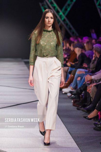 PRiK pantalone, zelena cipka bluza