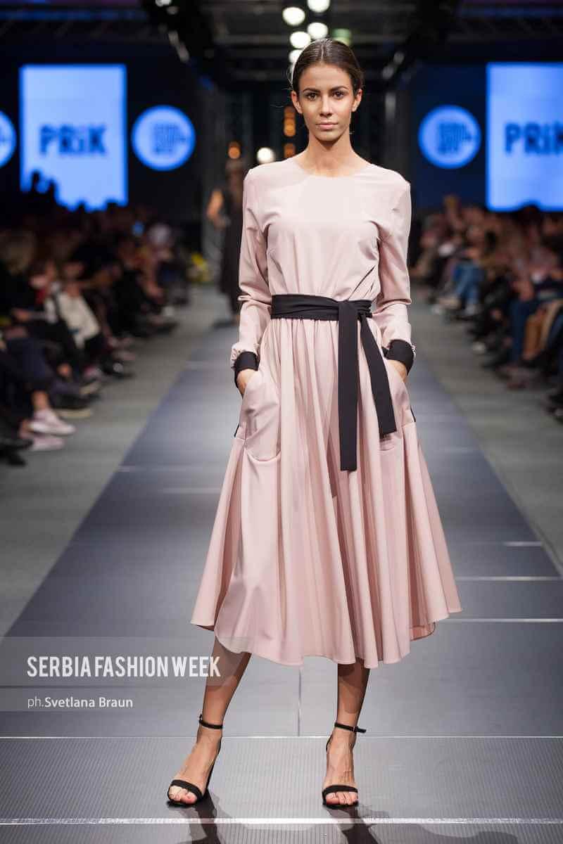 Roza haljina, PRiK SS19 kolecija, Serbia Fashion Week