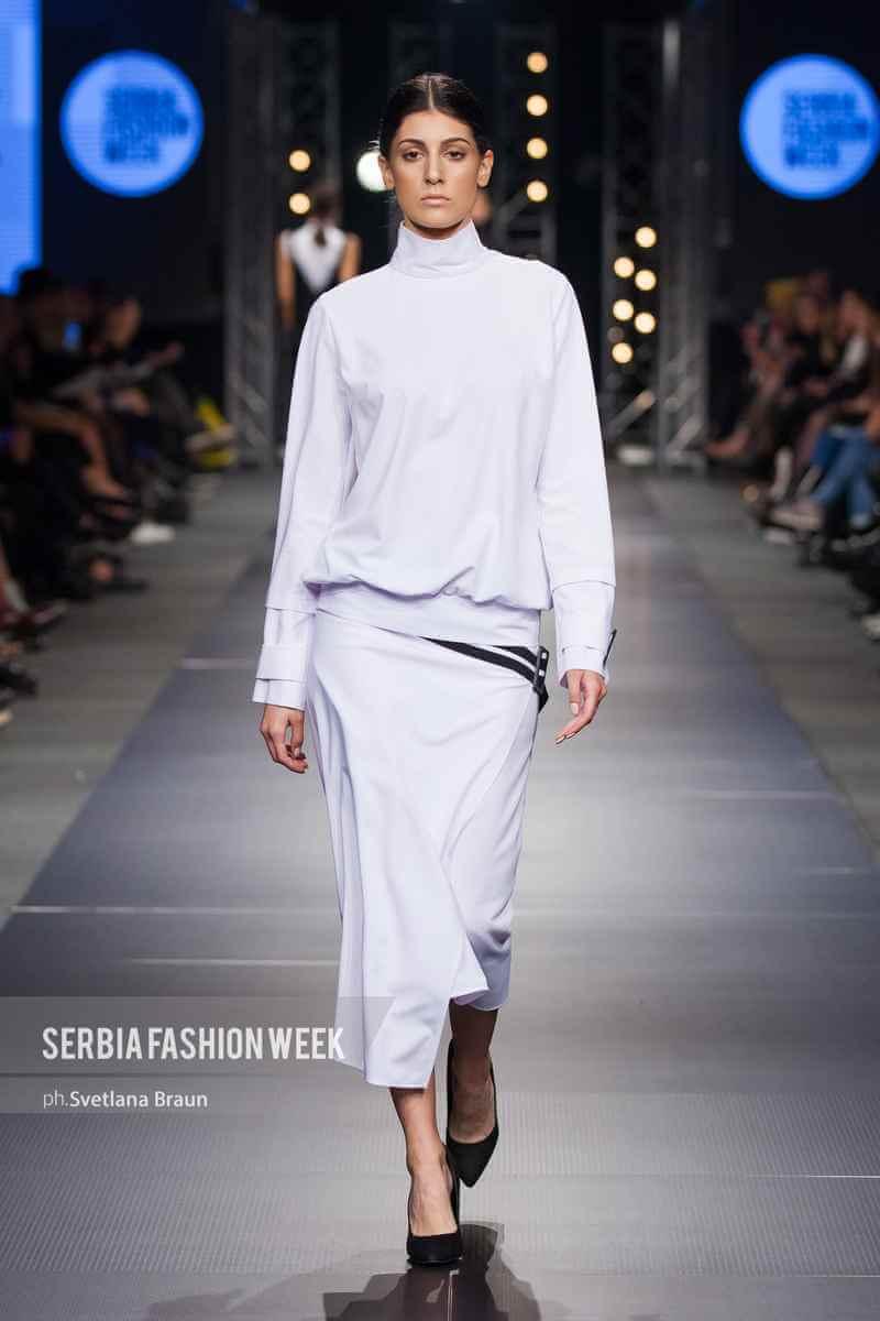 Bela suknja i duks, PRiK SS19 kolecija, Serbia Fashion Week