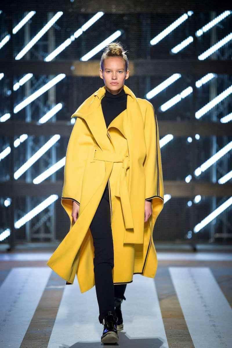 PRiK at Ljubljana Fashion Week SS18 - yellow coat