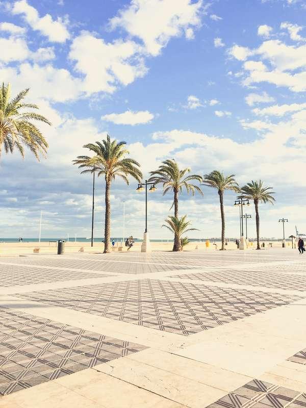 Plaža u Valenciji, Španija