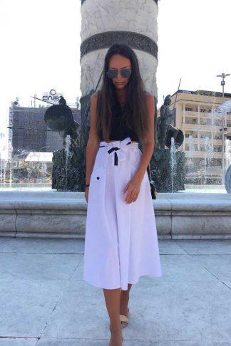 PRiK bela letnja suknja